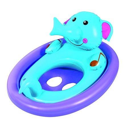 Круг-трусы для плавания Bestway Животные Слоненок (фиолетовый)