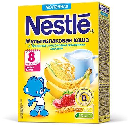 Каша Nestle мультизлаковая с бананом и земляникой с 220 г с 8 месяцев