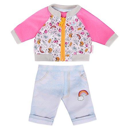 Одежда для куклы Zapf Creation Baby born Штанишки и кофточка для прогулки Голубой 824-542