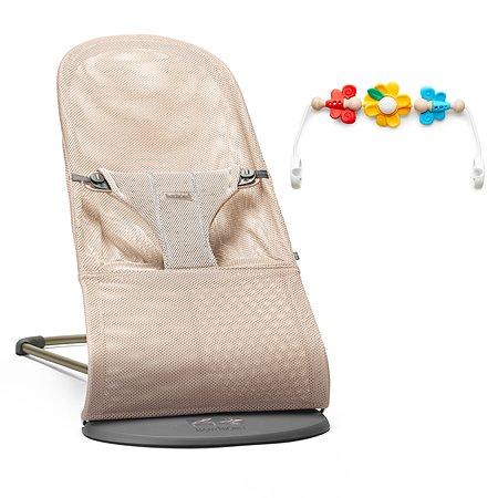 Кресло-шезлонг BabyBjorn Bliss Mesh с игрушкой Розовый