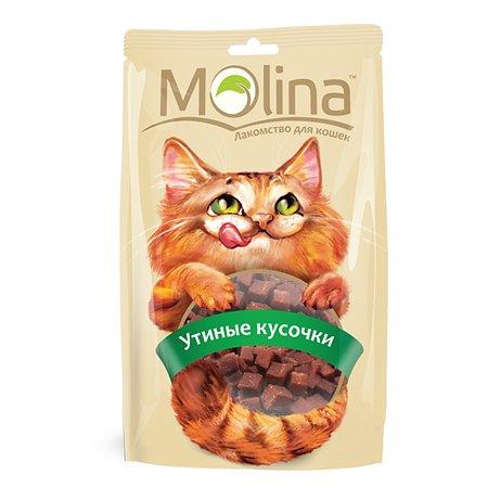 Лакомство для кошек Molina утиные кусочки 80г