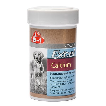 Добавка для собак 8in1 Excel Кальций 155 таблеток