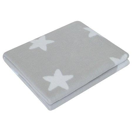 Одеяло байковое Ермошка Звездочки Светло-серое 57-6 ЕТЖ Премиум