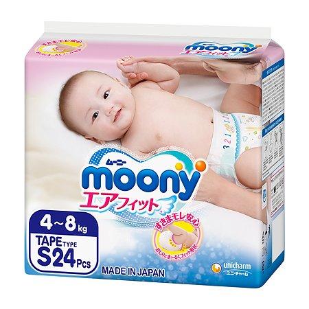 Подгузники Moony S 4-8кг 24шт