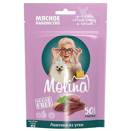 Лакомство для собак Molina мелких пород утиный хворост 50г