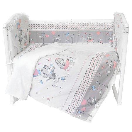 Борт в кроватку Baby Nice Сердечки S201/10