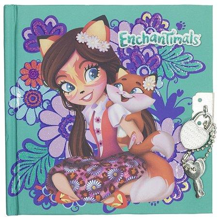 Записная книжка Kinderline Enchantimals с замком-сердечком 80л ENFS-UA1-A-4805-W