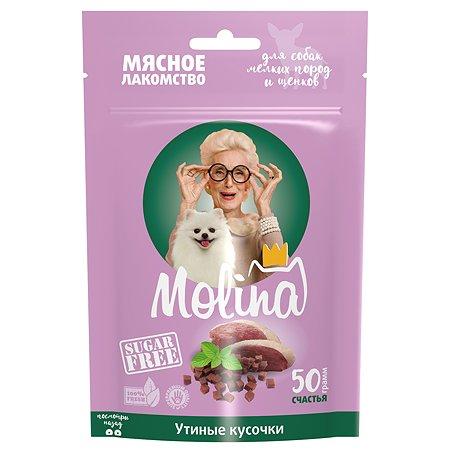 Лакомство для собак Molina мелких пород утиные кусочки 50г