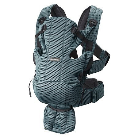 Рюкзак-переноска BabyBjorn Move Mesh 3D Серо-зеленый