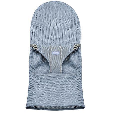 Чехол для кресла-шезлонга BabyBjorn Fabric Seat Bouncer Bliss Mesh сменный Серо-голубой