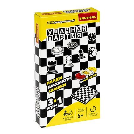Игра Bondibon Нарды шашки шахматы ВВ0686
