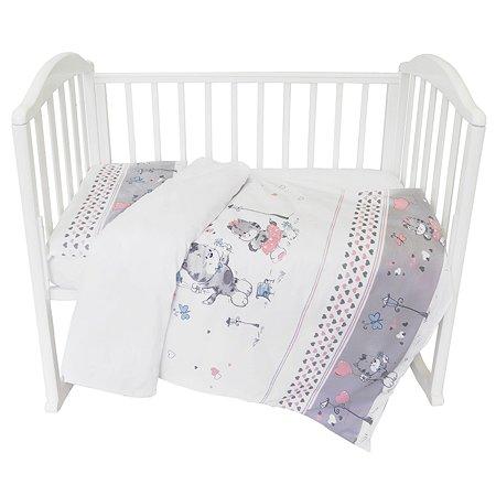 Комплект постельного белья Baby Nice Сердечки 3предмета C101/10