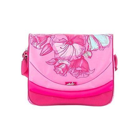 Сумка молодежная Grizzly для девочки Цветы (розовая)