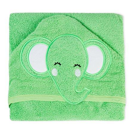 Полотенце детское Babyton с уголком зеленое