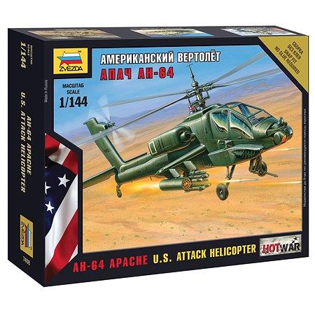 Модель для сборки Звезда Американский вертолет Апач