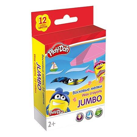 Набор Kinderline восковых мелков Play Doh 12цв
