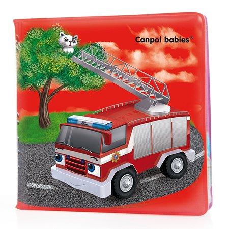 Книжка Canpol Babies мягкая с пищалкой Машинки