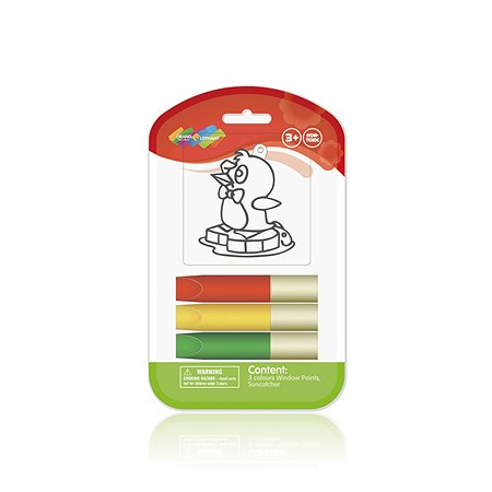 Витражные краски Оранжевый слон с витражом 1шт.мини