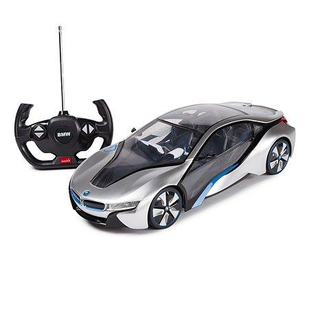 Машинка радиоуправляемая Rastar BMW i8 1:14 серебрянная