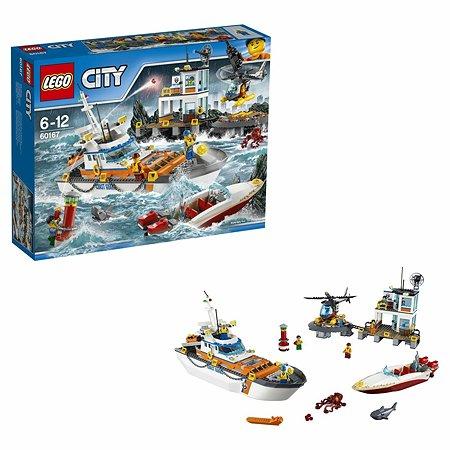 Конструктор LEGO City Coast Guard Штаб береговой охраны (60167)