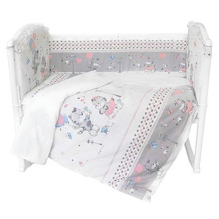 Комплект постельного белья Baby Nice Сердечки 6предметов H15/10
