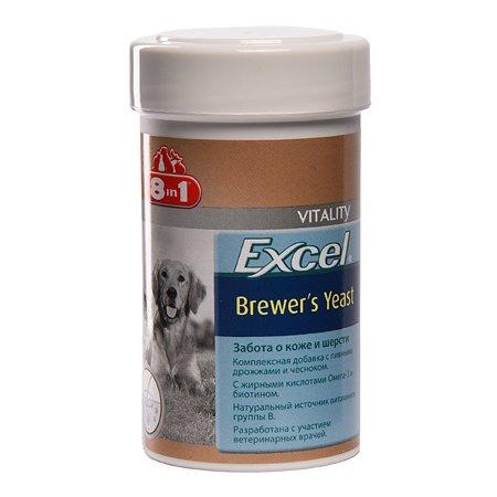 Добавка для кошек и собак 8in1 Excel Дрожжи пивные 140 таблеток