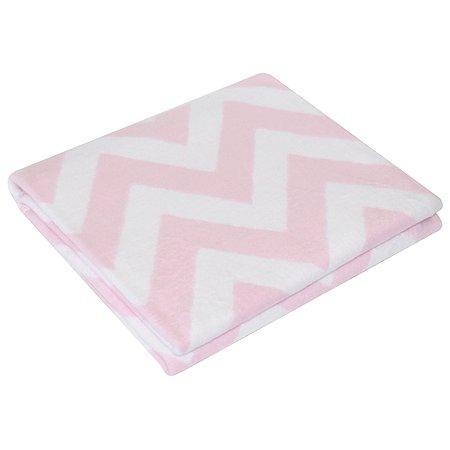 Одеяло байковое Ермошка Зигзаги Фламинго 57-6 ЕТЖ Премиум