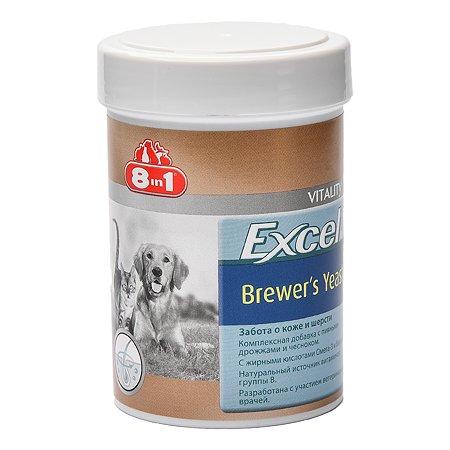 Добавка для кошек и собак 8in1 Excel Дрожжи пивные 260таблеток