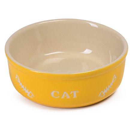 Миска для кошек-собак Nobby 0.2л Желтый 73363