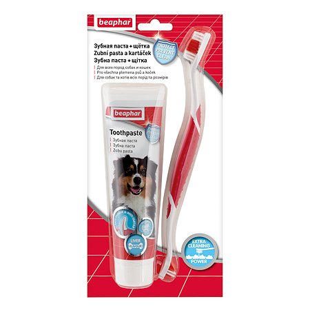 Паста для собак и кошек Beaphar для чистки зубов+щетка