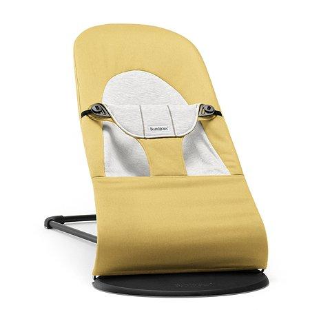 Кресло-шезлонг BabyBjorn Balance Cotton Jersey Желто-серый