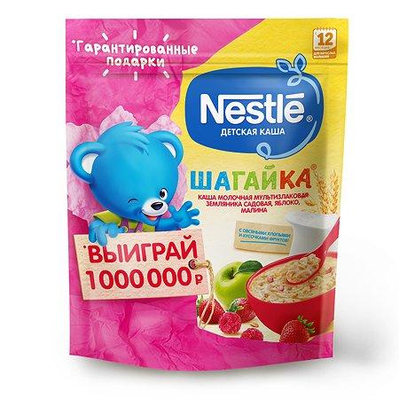 Каша молочная Nestle Шагайка 5 злаков земляника-яблоко-малина 200г с 12месяцев