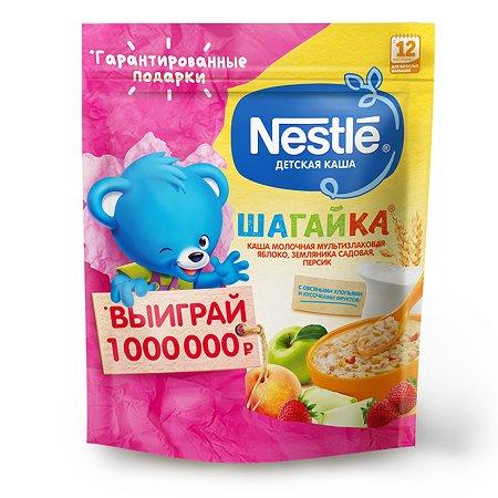 Каша молочная Nestle Шагайка 5 злаков яблоко-земляника-персик 200г с 12месяцев