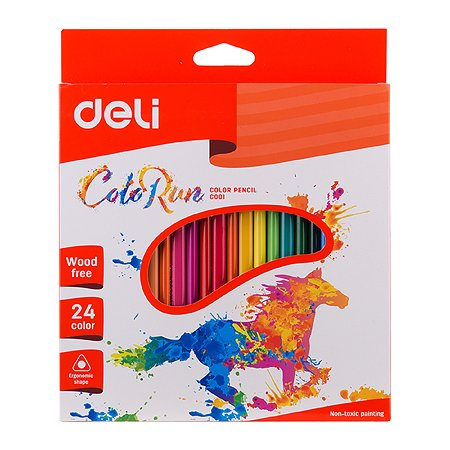 Карандаши цветные Deli 24цвета EC00120