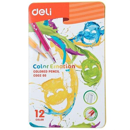 Карандаши цветные Deli 12цветов EC00205