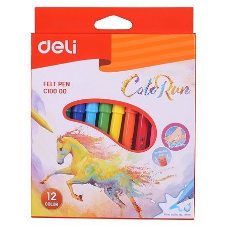 Фломастеры Deli ColoRun 12цветов EC10000