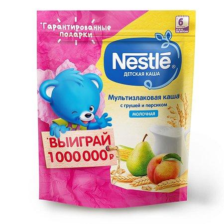 Каша молочная Nestle мультизлаковая груша-персик 220г с 6месяцев