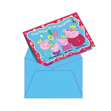 Приглашение в конверте Росмэн Пеппа-принцесса