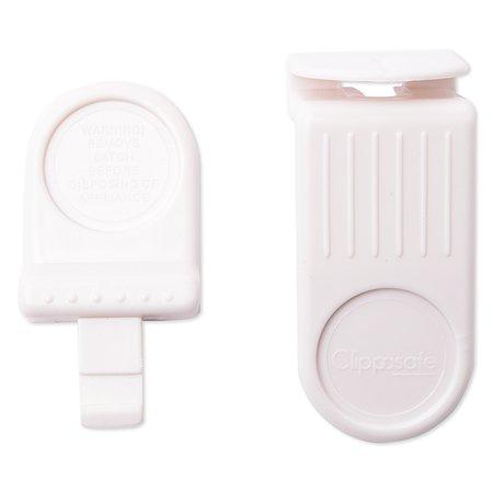 Защитный замок для холодильника Clippasafe белый