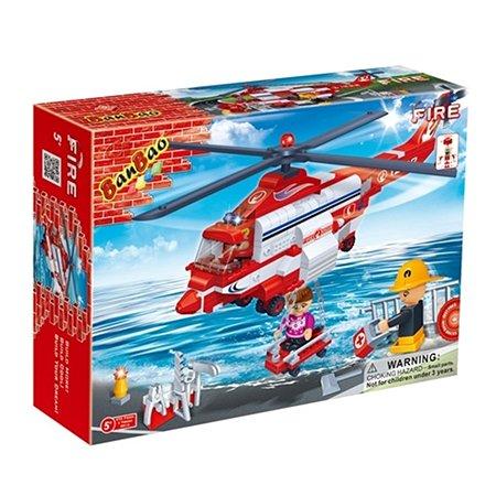 Конструктор Banbao Пожарный вертолет