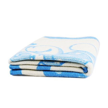 Одеяло ОТК шерстяное (Меринос) 100х140 голубое