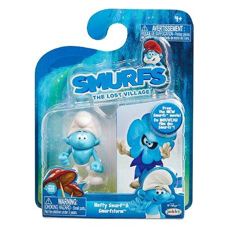 Набор из 2-х фигурок Smurfs Силач и Буря 5 см