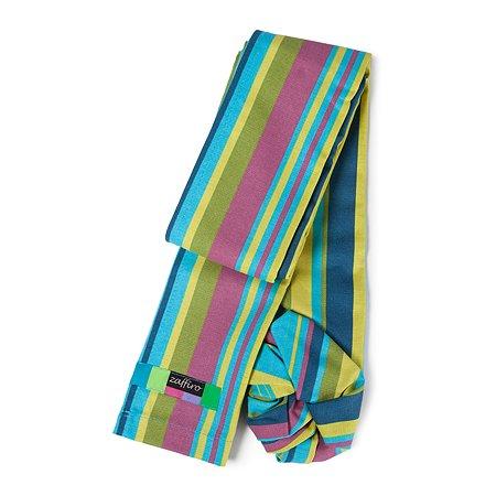 Слинг ZAFFIRO №16 1 Metal/Turquoise and Light Green Stripes