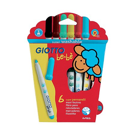 Фломастеры GIOTTO BEBE Super Fibre Pens 6цв
