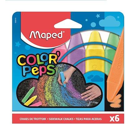 Мел цветной MAPED Color Peps Асфальт 6цветов 593501