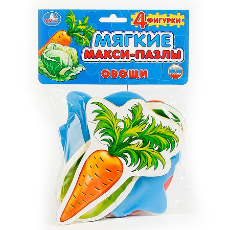 Макси-пазл УМка мягкий Овощи (227287) 4 детали