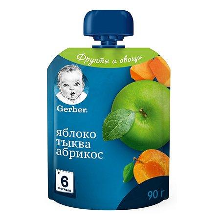Пюре Gerber яблоко-тыква-абрикос с 6 месяцев
