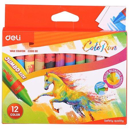 Мелки восковые Deli Colorun 12цветов EC20900