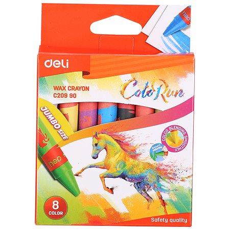 Мелки восковые Deli Colorun 8цветов EC20990