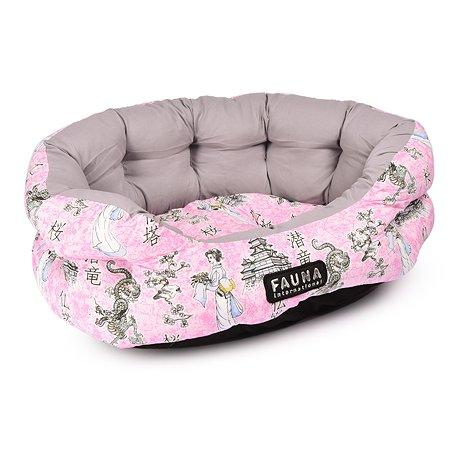 Лежак для животных FAUNA Tokyo Pink мягкий FIDB-8010